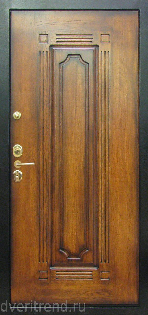 стальные двери с внутренней отделкой из дуба