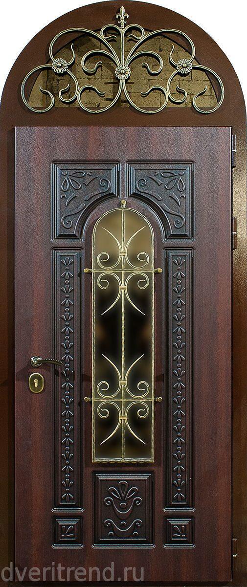 входные двери с арочной фрамугой